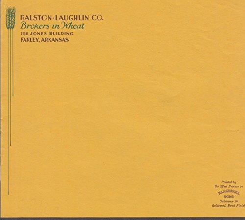 Ralston-Laughlin Brokers in Wheat memorandum form Farley KS ca 1940s