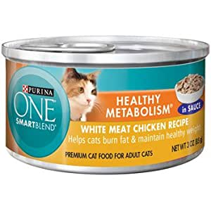 Purina ONE Smart Blend Healthy Metabolism Chicken Canned Adult Cat Food, 3 oz.