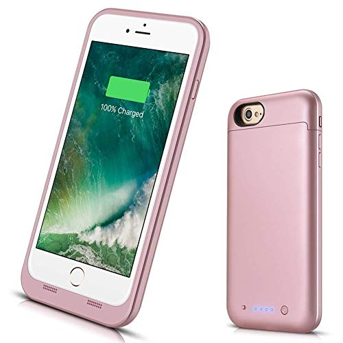 Battery Case for iPhone 8/7, VinPone [4500mAh] Rechargeable Portable Protective Charging Case Compatible with iPhone 8 & iPhone 7 Extended Backup Charger Case - Rose Gold
