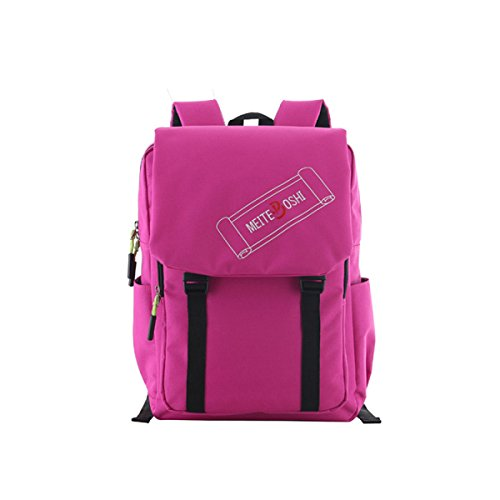 Yueer Shoulder Bag Men And Women Student Bag Oxford Outdoor Leisure Bag Computer Travel Pink