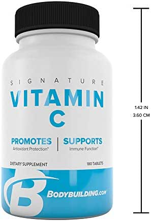 Bodybuilding Signature Vitamin C 500mg Tablets | Antioxidant Protection, Supports Overall Health | 120 Count