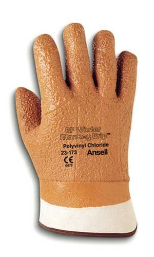 Gloves Extra Jersey Grip (Ansell 23-173-10 Size 10 Raised Finish Winter Monkey Grip Cold Weather Gloves)