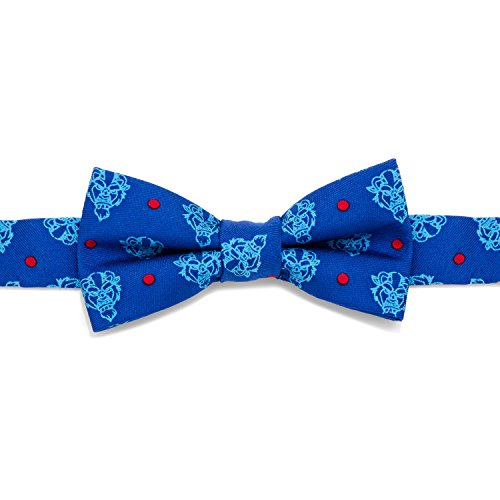 Disney Beauty and the Beast Dot Blue Boys' Silk Bow Tie by Cufflinks