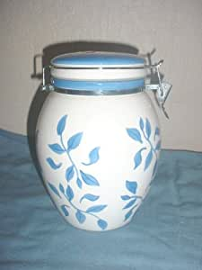 Inspirado Stonelite Blue And White Canister Or