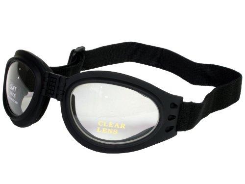 G&G Foldable Pocket Goggles Soft Feel Frame Sports Black - Goggles For Stylish Men