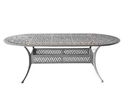 Amazoncom Elizabeth Outdoor Patio X Oval Dining Table - 72 oval dining table