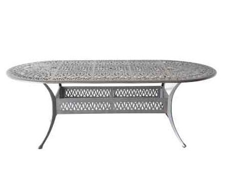 Elizabeth Outdoor Patio 42'' X 72'' Oval Dining Table Dark Bronze Cast Aluminum by Patio Land