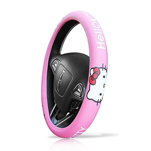 Finex Hello Kitty Car Steering Wheel Cover - Pink - Universal Fit Auto Accessories ()