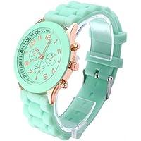 A menudo® Popular Hombres de cuarzo Mujer Niña Boy Unisex de silicona jelly muñeca reloj, Gratis, Mint
