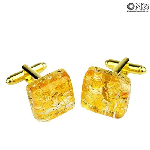 Original Murano Glass OMG Cufflinks - Gold