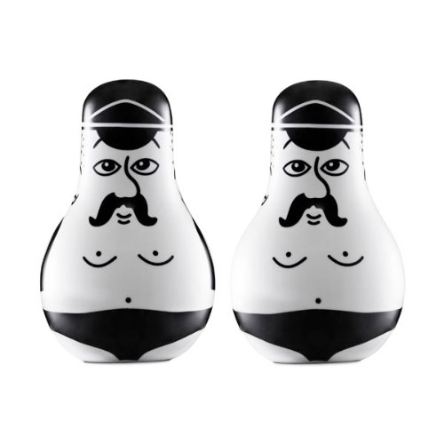 Friends Salt & Pepper Shaker Set by Normann Copenhagen by Normann Copenhagen