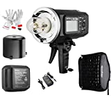 Godox AD600BM Bowens Mount 600Ws GN87 High Speed Sync Outdoor Flash Strobe Light with 2.4G Wireless X System, 8700mAh Battery to Provide 500 Full Power Flashes Recycle in 0.01-2.5 Second (AD600BM -Manual Power Adjustment)