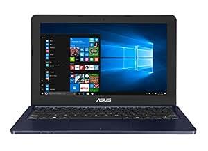 "Asus E202SA-FD0076T - Portatil de 11.6"" HD (Procesador Intel Celeron N3060, 4 GB de RAM, disco duro de 500GB, Intel HD Graphics 400, Windows 10) Teclado QWERTY español - Azul Oscuro"