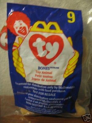 Ty Beanie Babies - 1998 Beanie Babies McDonald's BONES the Dog #9 - TY BEANIE (Beanie Bone Dog Toy)