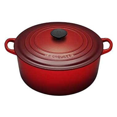 Le Creuset Enameled Cast Iron Round French Oven (5 1/2 Quart, Cherry Red)