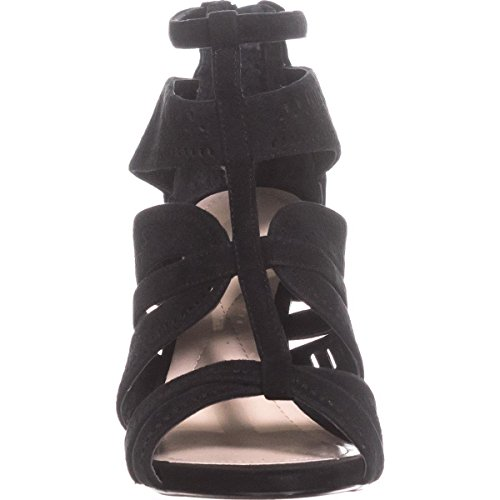 Open Black Leather Womens Alfani CHOLEY Sandals Casual Strappy Toe q1Btxw