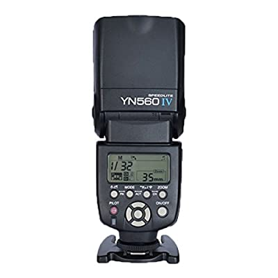 Yongnuo YN-560IV(560III upgrade version,a Combination of YN-560 III and YN560-TX all functions) 2.4G Wireless Flash Speedlite Trigger Controller for Canon Nikon Olympus Pentax+Free RockBirds 4.7 Inches HD Clear Ballistic Glass Screen Protector for iphone