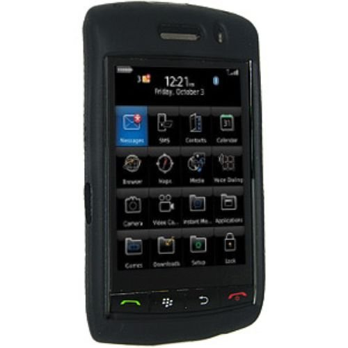 Amzer Silicone Skin Jelly Case for BlackBerry 9550 Storm 2 - Jet Black (Blackberry Storm Case)
