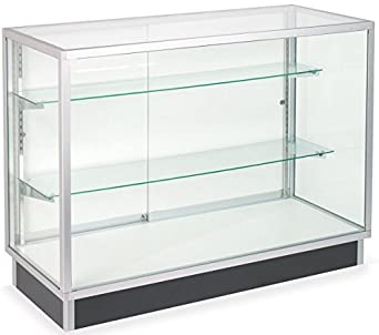 Superieur Amazon.com: Free Standing Glass Display Cabinet, Tempered Glass And Clear  Coat Aluminum Frame, For Retail Use: Industrial U0026 Scientific