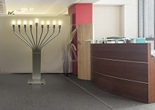 Zion Judaica Electric Menorah Extra Large Floor Standing for Lobby and Public Places Indoor Use with Automatic Lighting Sequence - 44'' Tall , Bulbs Included by Zion Judaica Ltd (Image #3)