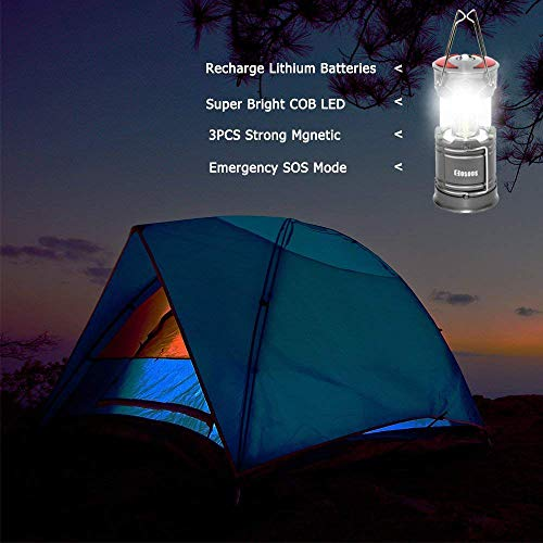 2 Pack Rechargeable LED Camping Lantern, COSOOS Portable Lantern Flashlight with Built in Battery, 4 Lighting Modes, Survival Kit for Emergency, Hurricane, Storm, Power Outage by COSOOS (Image #5)