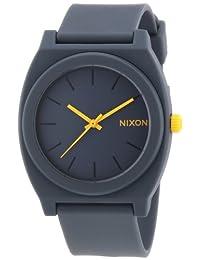 Nixon Time Teller P Gray Dial Polyurethane Strap Unisex Watch A119-1244