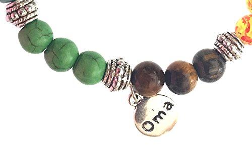 7 Chakra Semi Precious Stones Tibetan Buddhist Meditation and Healing Bracelet With Ying Yang Charm - OMA Brand by OMA (Image #3)