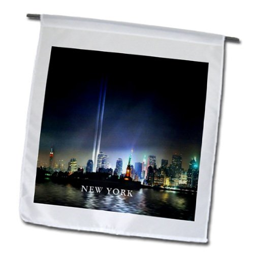 - 3dRose fl_109493_1 Memorial to Firefighters New York City Garden Flag, 12 by 18-Inch