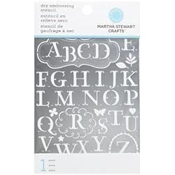 Martha Stewart Crafts Alphabet Embossing Stencils