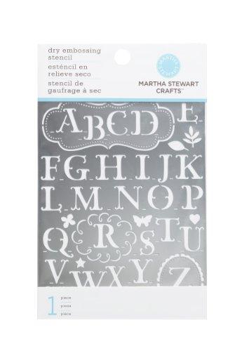 Amazon martha stewart crafts alphabet embossing stencils spiritdancerdesigns Images