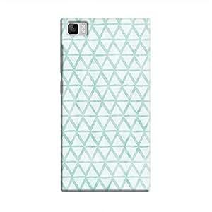 Cover It Up - Triangle Print Blue Mi3 Hard Case