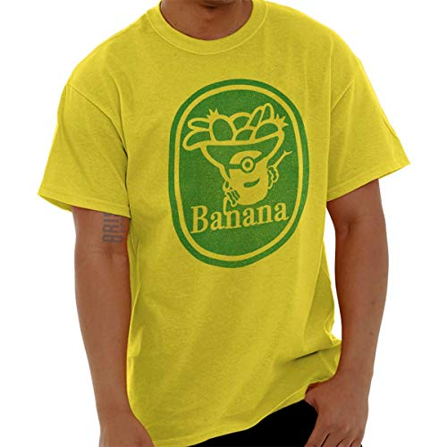Brisco Brands Banana Despicable Cute Funny Character Gym T Shirt Tee]()