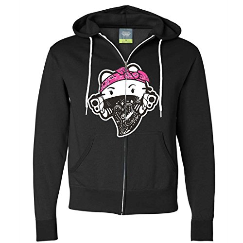 Hello Kitty Gangster Thug Zip-Up Hoodie - Black XX-Large (Hello Kitty Gangster)