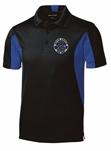 Thin Blue Line Do Not Tread On Me Moisture Wicking Polo Shirt- Small