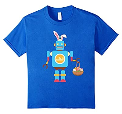 Robot Easter Bunny Funny T-shirt for Boys Girls Women Men