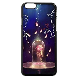 Diy Black Hard Plastic Disney Cartoon Movie Beauty and The Beast For SamSung Galaxy S6 Case Cover Case, Only fit For SamSung Galaxy S6 Case Cover