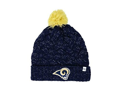 Los Angeles Rams Women's Knit Beanie With Pom Hat Cap - Team Colors by '47
