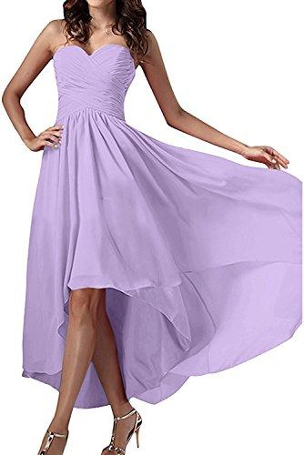 Lila Herzform Chiffon Ballkleid Abendkleider Ivydressing Einfach Festkleid Damen Partykleid Zx6xqF8