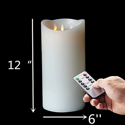 12'Huge 3-Wicks Flameless with Timer, Battery Operated Candle W/R, (Large Unity Candle Stand)