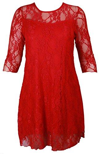 Taille Soire Manche Femme Rouge Dentelle Purple Hanger Robe 4 3 Fleurie Extensible Grande WqPvfHR