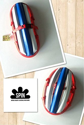 Spin Vintage Cycling Helmet Crash Protection Fold-Able Hats Red-White-Blue Color, Polar Bear's Republic