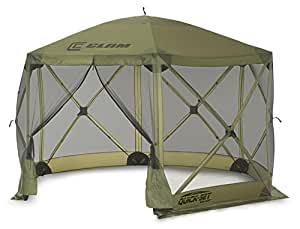 Quick Set 9281 Escape Shelter, 140 x 140 Portable Popup Gazebo Durable Tent Bug and Rain Protection Easy Setup (6-8 Person), Forest, 12 x 12, Green