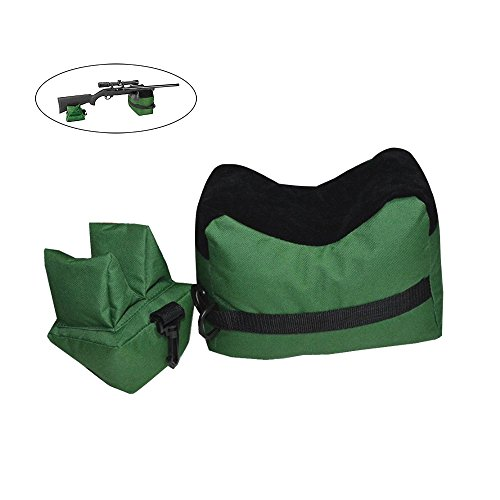 Target Shooting Bench (TEKCAM Shooting Rest Bag Set Outdoor Rifle Target Sports Bench Steady Unfilled Front & Rear Bags for Shooting Hunting)