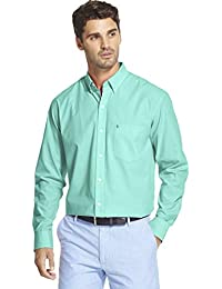 Men's Big and Tall Button Down Long Sleeve Stretch Performance Solid Shirt