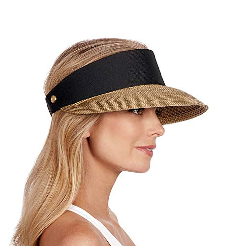 Eric Javits Women's Champ Visor-Natural/Black, One Size ()