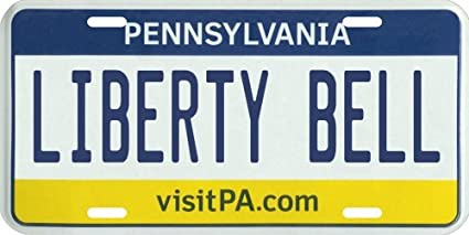 Pennsylvania Liberty Bell License Plate