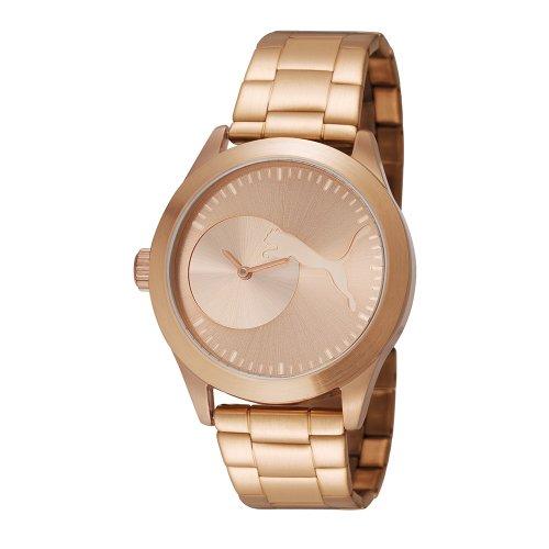 PUMA Women's PU103582003 Bling Metal Rose Gold Analog Display Quartz Rose Gold Watch