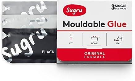Sugru Pegamento Moldeable - Formula Original - Negro, Blanco y Gris (3-paquete)