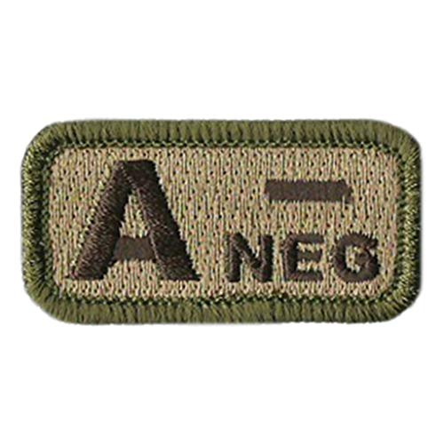 Tactical Blood Type Patches -