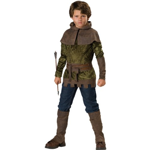 InCharacter Costumes, LLC Boys 2-7 Robin of Nottingham Tunic Set, Forest Green, Size 6 -